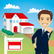 Real Estate Agent — Stock Vector