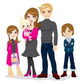 Happy Beautiful Family — Stock Vector