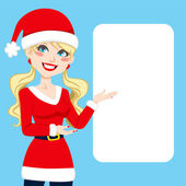 Santa claus blonde — Stockvector