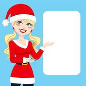 Santa claus blondynka — Wektor stockowy