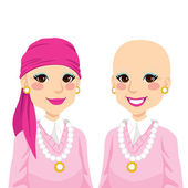 Senior Woman With Cancer — Stock Vector