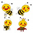 Cute Bee - Stock Vector