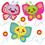 Cute Butterflies — Stock Vector