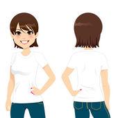 Beautiful Woman T-shirt — Stock Vector