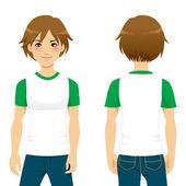 Handsome Man Tshirt — Stock Vector