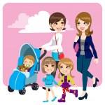 Mother Friends — Stock Vector #15636383