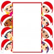Christmas Children Friends — Stock Vector
