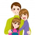 Glad familj älskar — Stockvektor