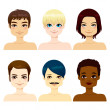 Multi-ethnic Handsome Men — Imagen vectorial