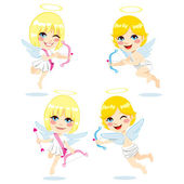Sweet Cupid Kids — Stock Vector