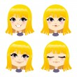 Sweet Blond Girl — Stock Vector #36568685
