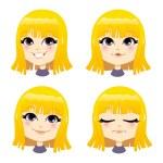 Sweet Blond Girl — Stock Vector #36568685