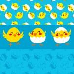 Happy Chicks Dancing — Stock Vector #36569093