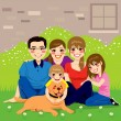 Sweet Happy Family — Image vectorielle