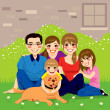 Sweet Happy Family — Imagen vectorial