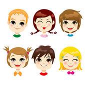 Children Facial Expression — Stock Vector