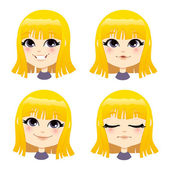 Sweet Blond Girl — Stock Vector