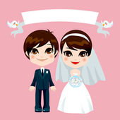 Sweet Couple Wedding — Stock Vector