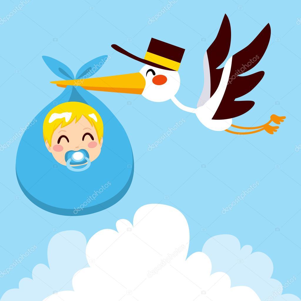 cig u00fce u00f1a beb u00e9 ni u00f1o entrega vector de stock  u00a9 kakigori stork carrying baby clipart baby shower stork clipart