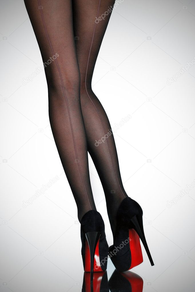 Slim female legs — Stock Photo © Croisy #17382871