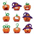 Halloween Pumpkin Icons #1 — Stock Vector #12267381