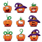 Halloween Pumpkin Icons #1 — Stock Vector