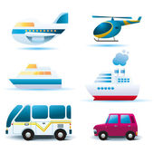 Tranportation icons — Stock Vector