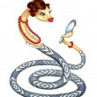 Stock Photo: Snake - symbol of 2013