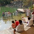 Stock Photo: Israel Place for ablution in holy waters of JordRiver - Yordanit