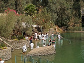 Israel Place for ablution in holy waters of the Jordan River - Yordanit — Stock Photo