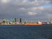 Lithuania View of the Klaipeda seaport — Stock Photo