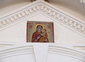 Mosaic icon of the Mother of God Zhivonosny a source in Valaam — Stock Photo