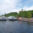 Stock Photo: Mooring of Monastic bay Valaam monastery