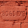 Valaam monastery 1908. Brick wall - Stock Photo