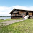 Stock Photo: Karelia, Kizhi Wooden rural house