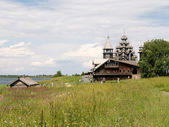 Karelia, Kizhsky country churchyard — Stock Photo