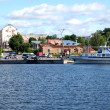 Karelia. Pier of the city of Sortavala — Stock Photo