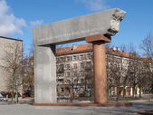 "Lithuania, Klaipeda. Monument ""Arch"" in honor of the 80 annivers — Stock Photo"