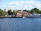 Karelia. Pier of the city of Sortavala — Stock Photo