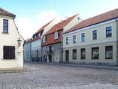 Old houses in Klaipeda, Lithuania — Stock Photo