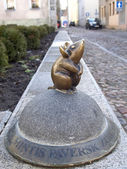 Lithuania. Sculpture of a mouse on the street of Klaipeda — Stock Photo