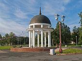 Petrozavodsk. Petrovsky rotunda on Lake Onega Embankment — Stock Photo