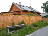 Wooden house in Karelia, Russia — Stock Photo