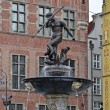 The Neptune fountain in Gdansk, Poland — Stock Photo
