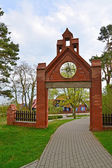 Gothic gate in Nida, Lithuania — Stock Photo