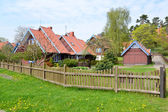 Lodges of fishermen in Nida, Lithuania — Stock Photo