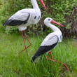 Two storks, garden sculpture — Stock Photo #25783123