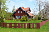 The rural house in Nida, Lithuania — Stock Photo