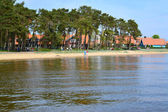 Lithuania. View of Nida from the Curonian Bay — Stock Photo
