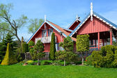 Landscaping about rural houses in Nida, Lithuania — Foto Stock